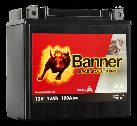Banner Mc Batteri AGM YTX14-BS 12V 12Ah