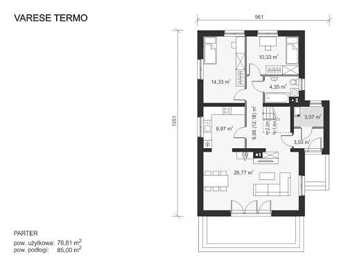 Varese Termo - Rzut parteru