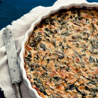 Naked Beet Green Quiche