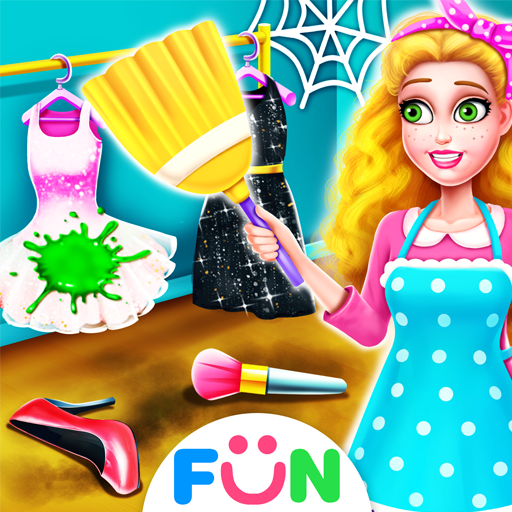 Shopping Mall House Clean Up–Girls Clean Home Game