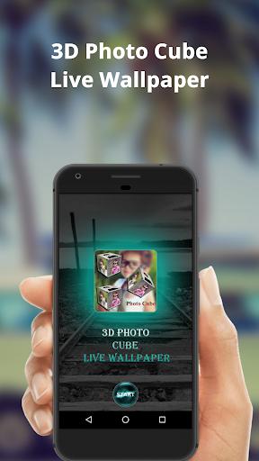 3D Photo Cube Frame Live Wallpaper 3.8 screenshots 1
