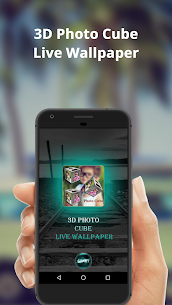 3D Photo Cube Frame Live Wallpaper 1