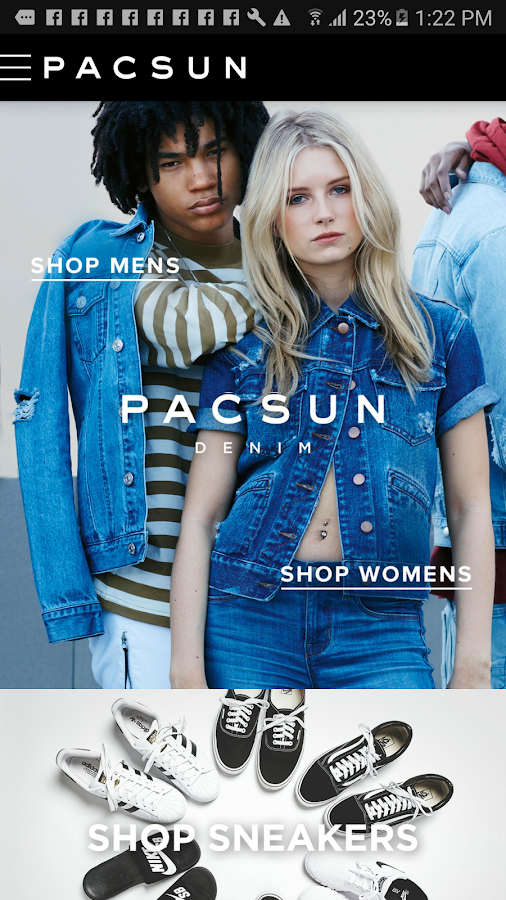 PacSun- screenshot