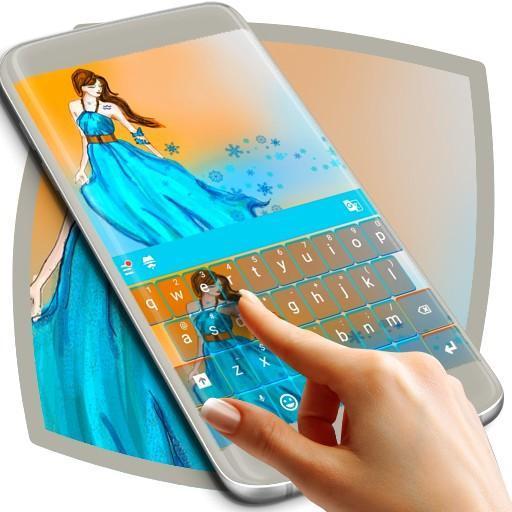 Aquarius Princess Keyboard Aplicaciones (apk) descarga gratuita para Android/PC/Windows