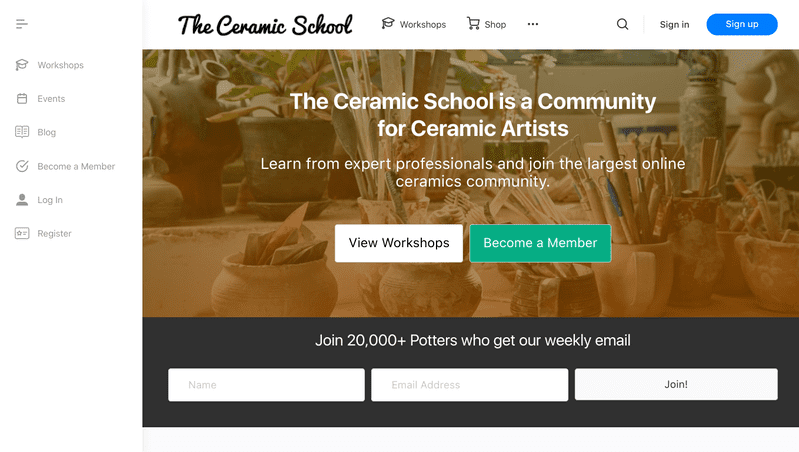 The Ceramic School is an active platform that posts new and exciting pottery videos and workshops every day of the week.