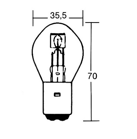 S2 incandescent lamp 12V 35/35W BA20D