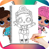 Drawing Cute Surprise Dolls Icon
