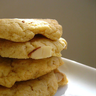 Butter Cookies with Sliced Almonds.