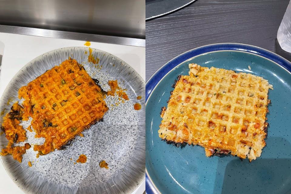 exo kai fried rice waffle bubble