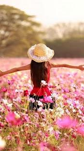Růžové květy Živé Tapety - náhled