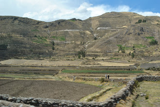 Photo: Irrigated fields, some in use for over 1000 years, coastal Peru.  Water is critical and some prehistoric people were masters at water control.