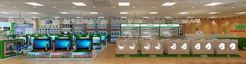 thiết kế siêu thị điện máy đẹp mắt