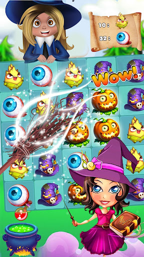 Halloween Witch - Fruit Puzzle 1.0.20 screenshots 2