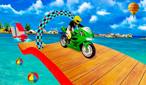 Racing In Moto Bike Stunt Race