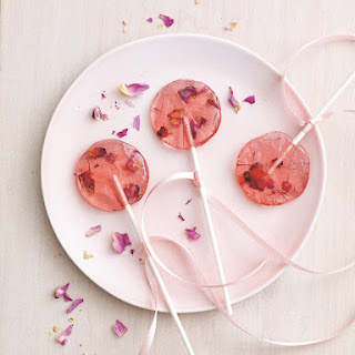 Rose Saffron Lollipops.