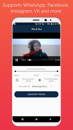 Foto do Slice & Save - Video Slicer, WhatsApp  Story Saver