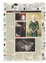Photo: Article about the FRENCH ART DAY exhibition 2012 in danish national newspaper iByen/Politiken (the 20th of jan. 2012), photograph & paragraph about my works.  © top-left photo (The Healer #1) by jean-marie babonneau all rights reserved http://www.betterworldinc.org
