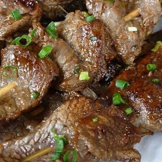 Asian Beef Skewers.