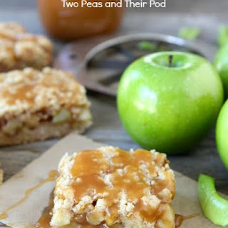 Salted Caramel Apple Crumb Bars