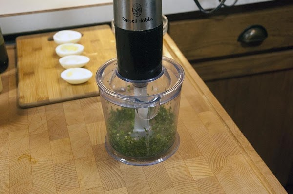 Give the mixture a few 1-second pulses until thoroughly combined.