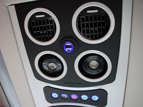 岩手県北自動車「盛宮106特急」 2階席 モニター