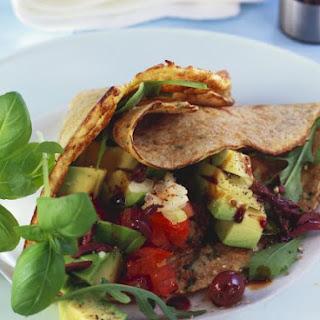 Savoury Salad Crepes.