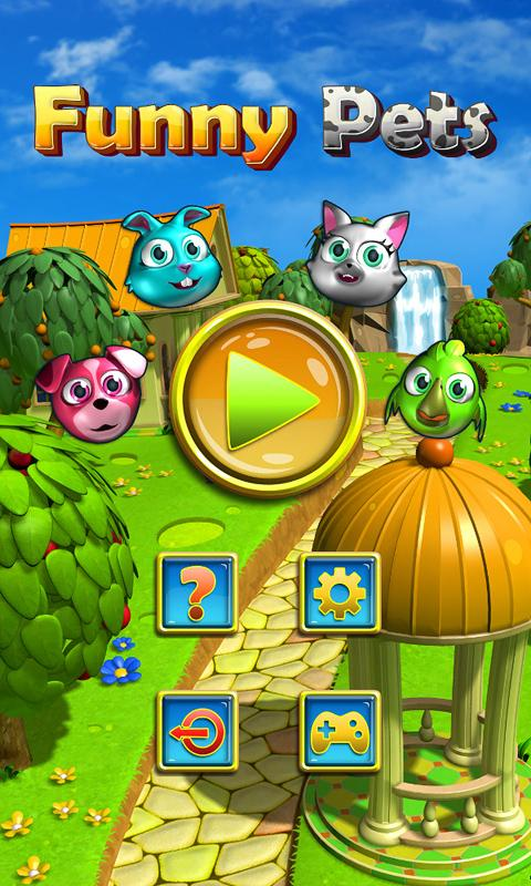 Funny Pets Match 3 Free- screenshot