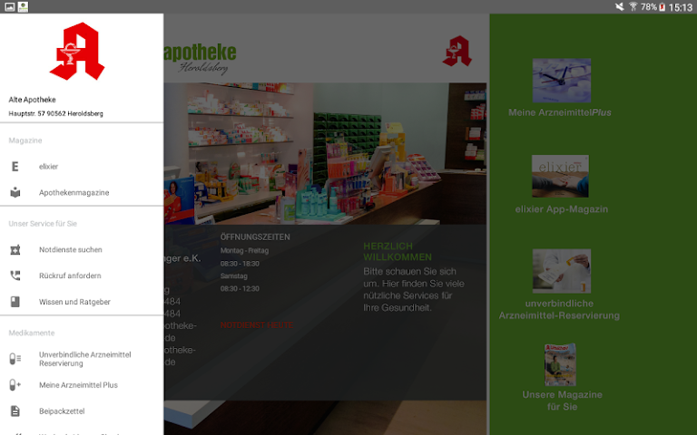 android Alte Apotheke Heroldsberg Screenshot 10