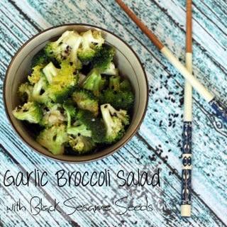 Garlic Broccoli Salad with Black Sesame Seeds Recipe