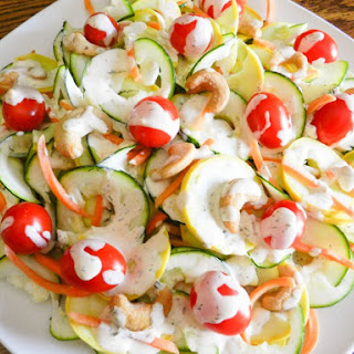 Summer Squash Salad with Chipotle Lime Ranch Dressing