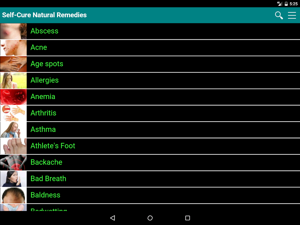 Self Cure natural remedies for ailment and illness- screenshot