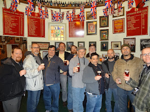 Photo: Our group could have stayed at Batemans all day enjoying the traditional English ales.