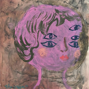 eyes-sophielormeau-lormeau-artiste-peinture-french-artist-art-boy-portrait-face-visage-tableau-toile-colorful-enfance-child-pink-enfant-childhood-naif-naiv-contemporain-contemporary-yeux-oeil