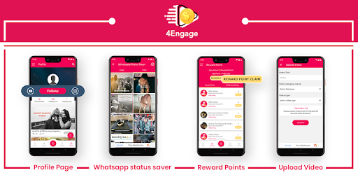 4 Engage Spin Win Upload Videos Earn Reward Apps On