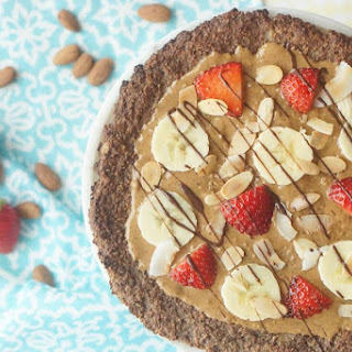 Chocolate Almond GF Cauliflower Dessert Pizza