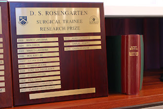 Photo: Previous winners. The D.S. Rosengarten Prize has been going for 30 years, since 1985.