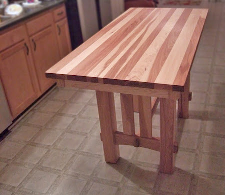 """50"""" x 32"""" x 36"""" tall Cordoba Table in Natural Hickory"""