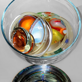 Orbical by Julio Cardona - Artistic Objects Other Objects ( glass, plastic, dvd, abstract art, light, patterns, marbles, metal, bowl, lens, abstract photography, colors )