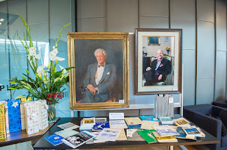 Photo: The portraits of Barry Firkin and Nip Thomson. http://www.med.monash.edu.au/cecs/events/2015-tr-symposium.html