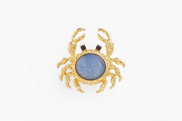Talbots Jeweled Crab Brooch
