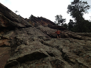 Photo: Dan Mottinger near the very bottom of Stairway to Heaven after having downclimbed the entire route.