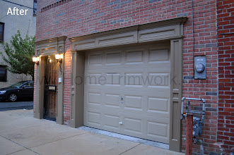 Photo: (After) Schottland's Garage door with pillars and header. Philadelphia, PA