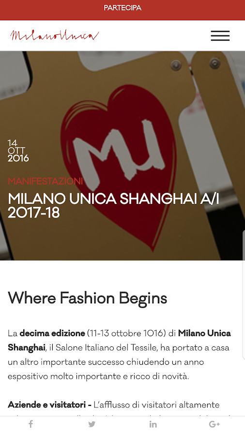 Milano Unica- screenshot