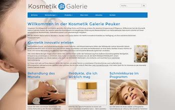 Photo: Referenz Webdesign: Kosmetik Galerie Peuker (HTML5/CSS3, responsive Design, WordPress)