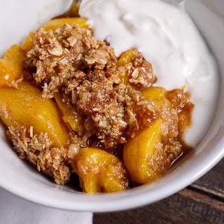 Bourbon Peach Crisp.