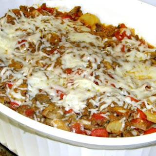 Chicken Spaghetti Squash Casserole.