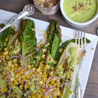 Charred Romaine with Green Goddess Dressing