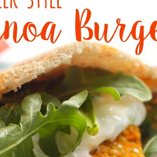 Greek-Style Quinoa Burgers Recipe