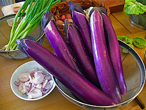 Photo: eggplants for grilling