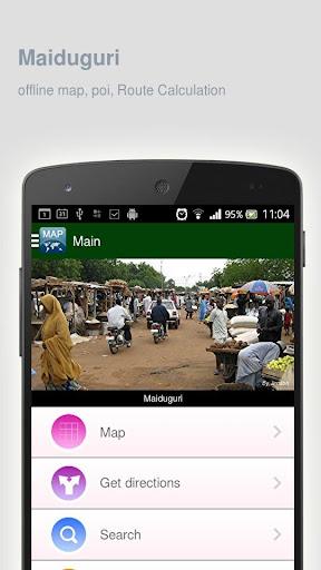 Maiduguri Map offline